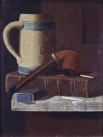 Mug, Pipe and Book