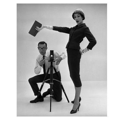 John French and and Daphne Abrams in a Tailored Suit, 1957-John French-Giclee Print
