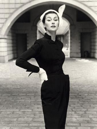 Anne Gunning in a Velveteen Evening Coat, 1952