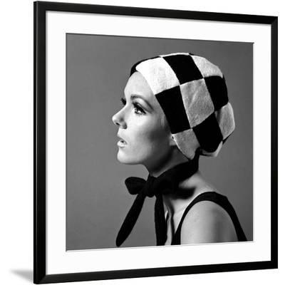 Black and White Checked Bonnet, 1960s
