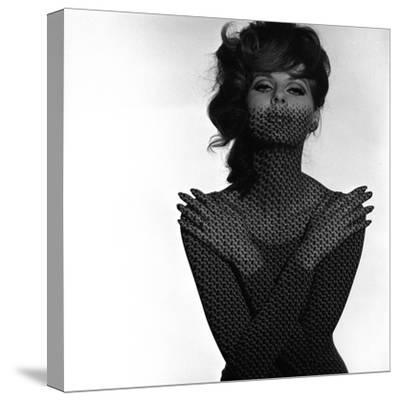 Chainmail Projection on Model with Crossed Arms, 1960s