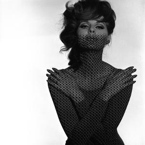 Chainmail Projection on Model with Crossed Arms, 1960s by John French