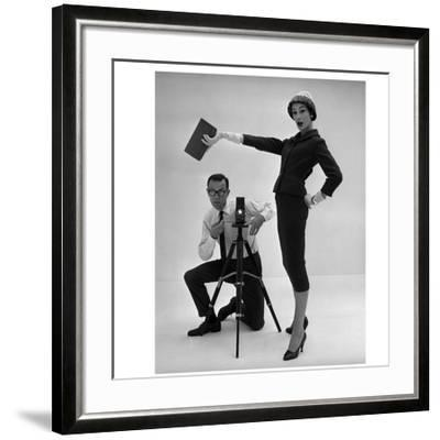 John French and and Daphne Abrams in a Tailored Suit, 1957