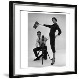 John French and and Daphne Abrams in a Tailored Suit, 1957 by John French