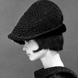 Marie Lise Gres in a Persian Lamb Hat, Summer 1964 by John French
