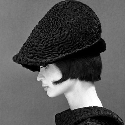 Marie Lise Gres in a Persian Lamb Hat, Summer 1964