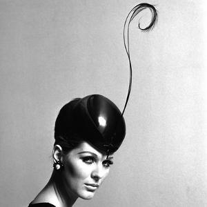Pillbox Hat with Feather, 1960s by John French