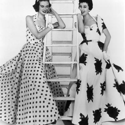 Susan Abraham in Brilkie Dress and June Clarke in Baker Sportswear, 1954