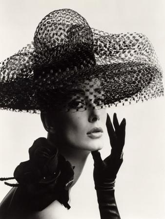 Tania Mallet in a Madame Paulette Stiffened Net Picture Hat, 1963