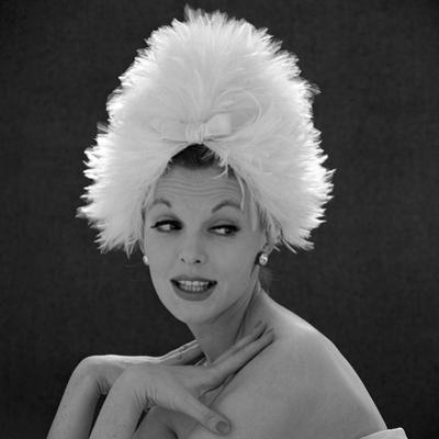 White Feathered Hat, 1960s by John French