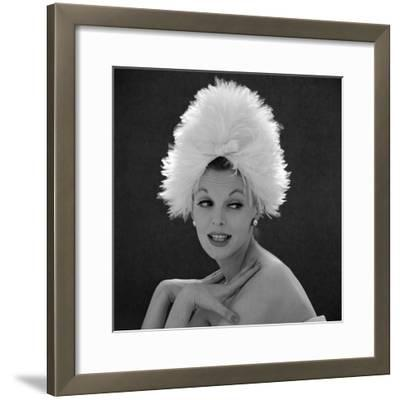 White Feathered Hat, 1960s