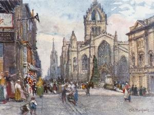 St. Giles's Cathedral from the Lawnmarket by John Fulleylove