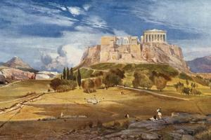 The Western End of the Acropolis Seen from Below the Pnyx by John Fulleylove
