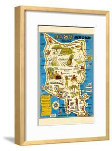Oahu, Hawaii Mem-O-Map - World War II Military Souvenir Map by John G^ Drury