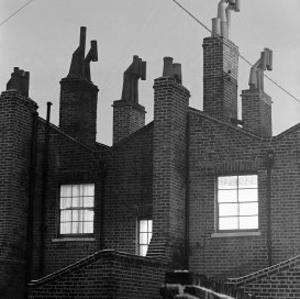 Rear View of Residential Victorian Buildings, Islington, London, c.1940 by John Gay
