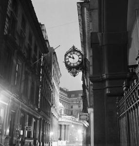 Streetlight and Clock by John Gay