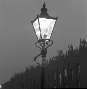 Streetlight in St Paul Street, Islington, London, c.1940 by John Gay