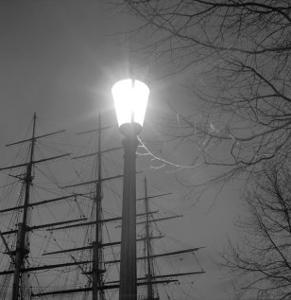 Streetlight with Boat in the Background, London, c.1940 by John Gay