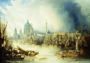 A View of London with St by John Gendall
