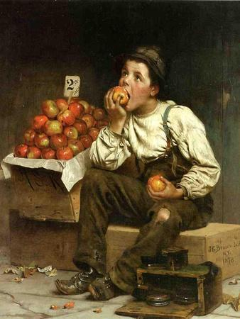 A Boy Eating Apples, 1878