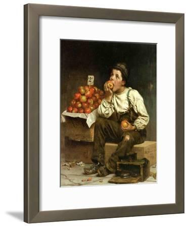 A Boy Eating Apples, 1878