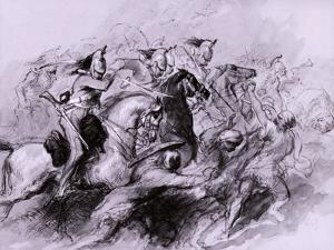 A Cavalry Charge, 1849 by John Gilbert