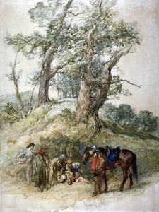 A Halt, 1888 by John Gilbert