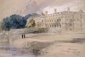 Clare Hall, Cambridge, 1846 by John Gilbert