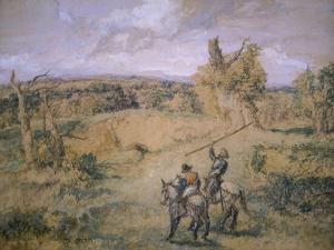Don Quixote and Sancho Panza, 1894 by John Gilbert
