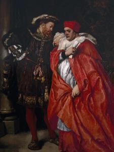 Ego Et Rex Meus, 1888; King Henry VIII and Cardinal Wolsey by John Gilbert