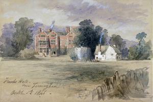 Frank's Hall Near Farningham, 1846 by John Gilbert