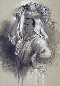 Girl with Fruit, 1849 by John Gilbert