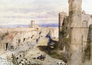 Harlech Castle from the Ramparts, 1850 by John Gilbert