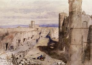 Harlech Castle from the Ramparts, Wales, 1850 by John Gilbert