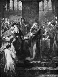 King Richard II Resigning the Crown to His Cousin Bolingbroke, 1399 by John Gilbert