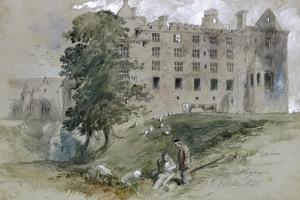 Linlithgow Castle, West Lothian, Scotland, 1845 by John Gilbert