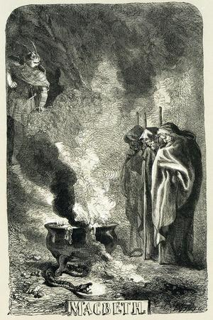 Macbeth Visiting the Three Witches on the Blasted Heath, 1858