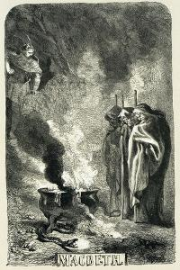 Macbeth Visiting the Three Witches on the Blasted Heath, 1858 by John Gilbert