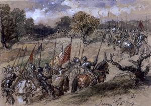 On the March, 1874 by John Gilbert