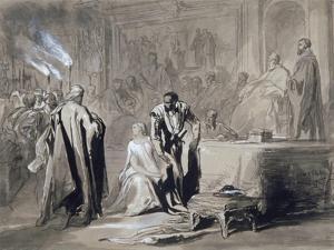 Othello and Desdemona before the Senate, 1847 by John Gilbert