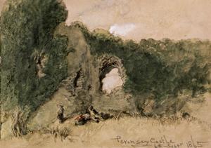 Pevensey Castle, East Sussex, 1865 by John Gilbert