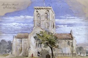 Shoreham Church, Kent, 1844 by John Gilbert
