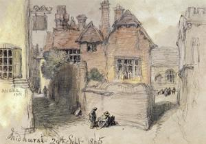 The Angel Inn, Midhurst, 1865 by John Gilbert