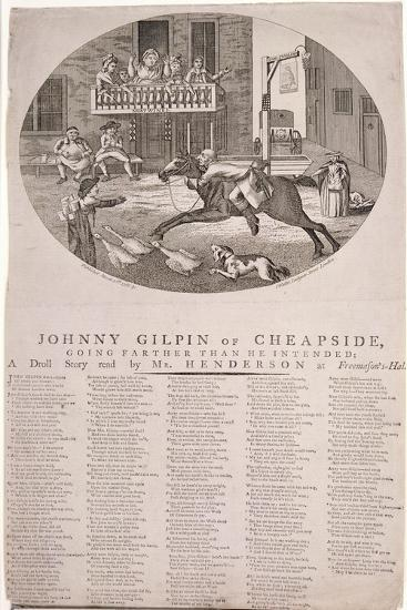 John Gilpin in Edmonton, London, 1785--Giclee Print