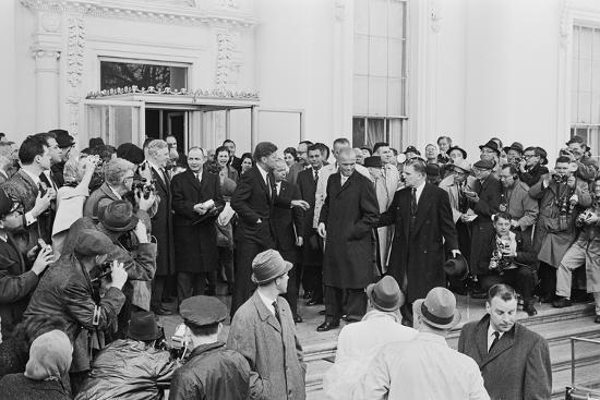 John Glenn with President Kennedy in Washington, 1962-Warren K^ Leffler-Photographic Print