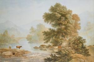 Cattle Watering at a River by John Glover