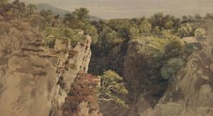 'Landscape with Rocks', 18th-19th century, (1935) by John Glover