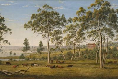 Mr. Robinson's House on the Derwent, Van Diemen's Land, C.1838