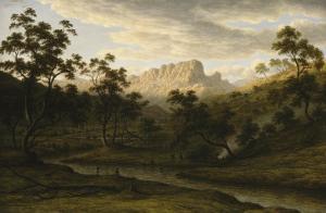 Soleil couchant à Ben Lomond (Tasmanie) by John Glover