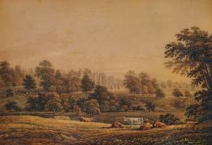'View of Aldenham Abbey: Hertfordshire', 18th-19th century, (1935) by John Glover